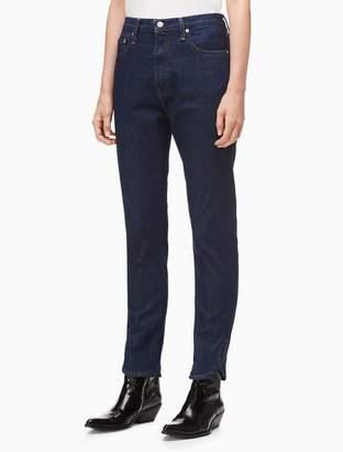 Calvin Klein slim high rise ankle jeans