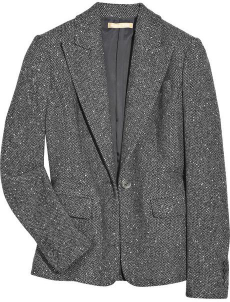 Michael Kors Metallic herringbone blazer