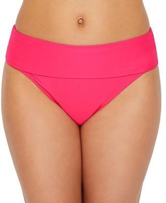 Sunsets Hot Pink Fold-Over High-Waist Bikini Bottom