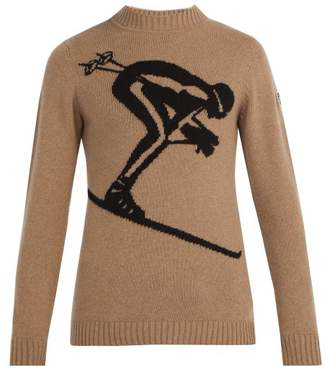Fusalp - Skieur Wool And Cashmere Blend Sweater - Mens - Camel