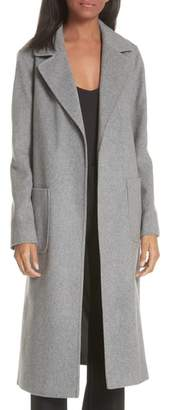 Helene Berman Notch Collar Edge to Edge Wool Blend Coat