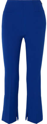 Roland Mouret Goswell Cropped Crepe Slim-leg Pants - Royal blue