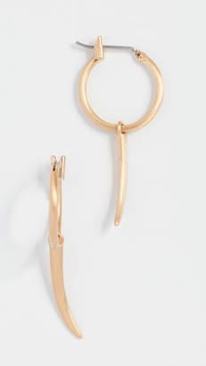 Rebecca Minkoff Golden Horn Mini Hoop Earrings