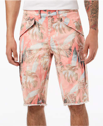 GUESS Men's Palm Tree Cargo Shorts