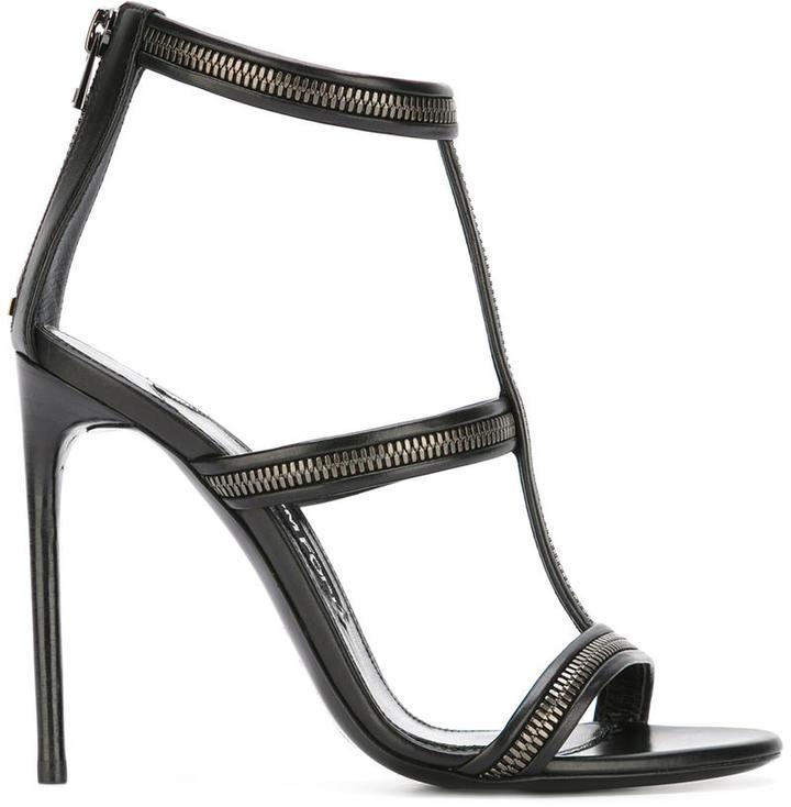 Tom Ford zip detail sandals