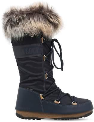 Moon Boot Monaco Nylon & Faux Leather Boots
