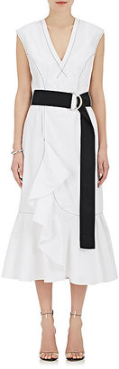 Derek Lam 10 Crosby Women's Cascading-Ruffle Cotton Dress $395 thestylecure.com