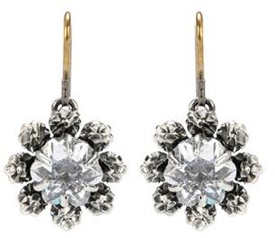Bottega VenetaBottega Veneta Embellised Silver Earrings