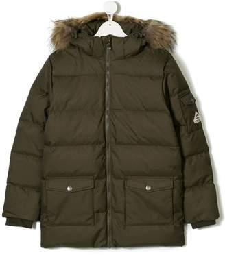 Pyrenex Kids TEEN hooded parka coat