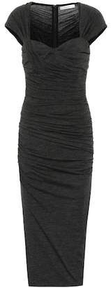 Max Mara Ella stretch wool-blend dress