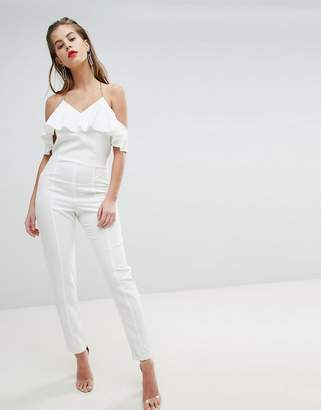 Morgan Strappy Jumpsuit With Frill Detail