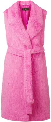 Rochas faux fur sleeveless coat