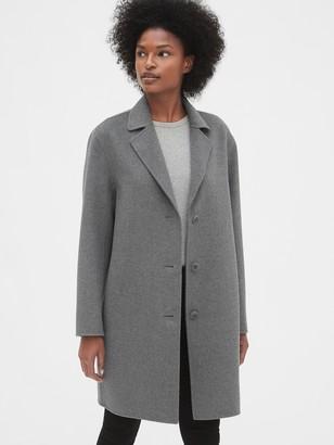 Gap Unlined Wool-Blend Car Coat