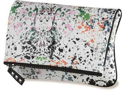 Splatter- Fold Over Clutch