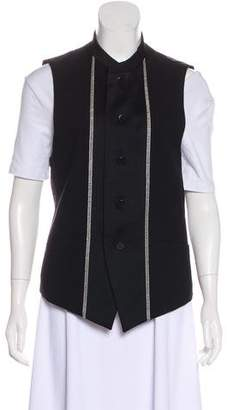 Issey Miyake Wool Embroidered Vest
