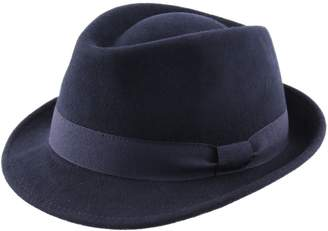 Classic Italy Trilby Pliable Wool Felt Trilby Hat Size 60 cm Brown