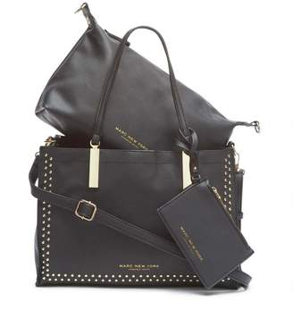 Andrew Marc ZOEY UNLINED MICRO STUD TOTE