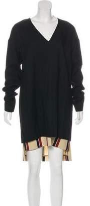 Dries Van Noten Wool Long Sleeve Dress