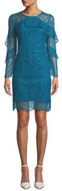 Nanette Lepore Nanette Long-Sleeve Lace Shift Dress