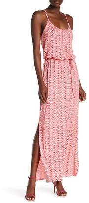 Loveappella Cinched Blouson Maxi Dress
