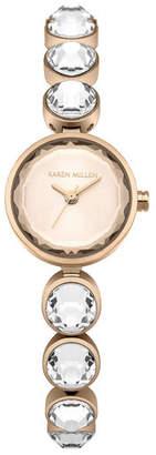 Karen Millen Crystal Bracelet Watch