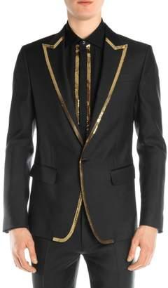 DSQUARED2 Silk & Wool Sequin Blazer