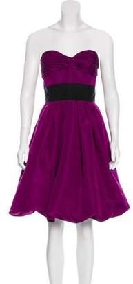Oscar de la Renta Strapless Silk Dress