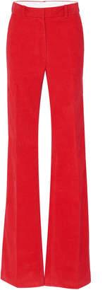 Victoria Beckham Cotton-Corduroy Flared Pants