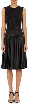 Barneys New York Women's Lambskin Drop-Waist Dress