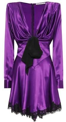 Alessandra Rich Silk-satin minidress