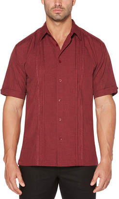 Cubavera Short Sleeve Chambray Panel Front Shirt