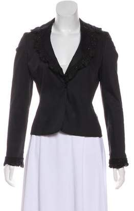 Blumarine Embellished Long Sleeve Blazer