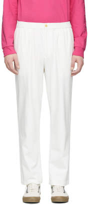 paa White Denim Trousers