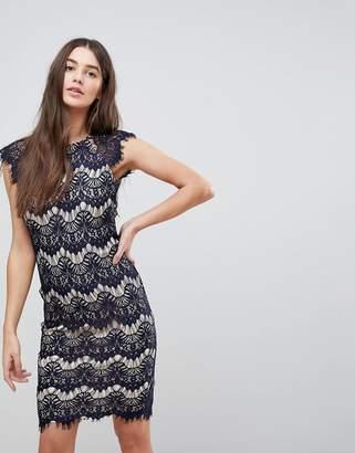AX Paris Lace Contrast Midi Dress