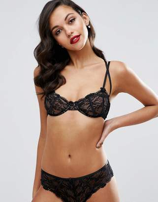 Asos Gianna Lace Underwire Bra With Satin Detail