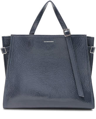 42ce9e8358 Calvin Klein East West Side Strap Tote in Blue Grey | FWRD