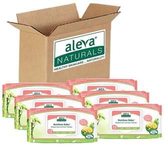 Set of 6 Aleva Naturals Bamboo Baby Sensitive Wipes