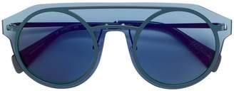 Yohji Yamamoto round frame aviator-style sunglasses