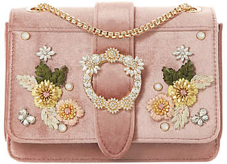 Dune Devi Small Embroidered Flowers Cross Body Bag