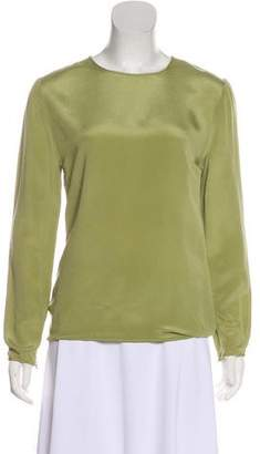 Oscar de la Renta Crew Neck Long Sleeve Top