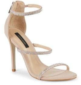 Ava & Aiden Embellished Leather Stiletto Sandals