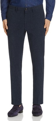 Michael Kors Midnight Seersucker Slim Fit Trousers $198 thestylecure.com
