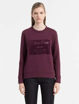 Calvin Klein flock logo sweatshirt