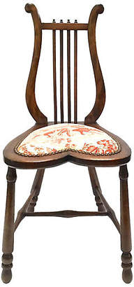 One Kings Lane Vintage Antique Lyre-Back Slipper Chair