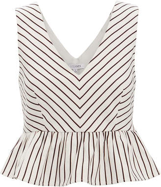 Intermix Lenny Striped Peplum Top