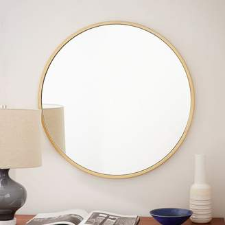 west elm Metal Framed Round Wall Mirror