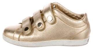 Jimmy Choo Metallic Low-Top Sneakers