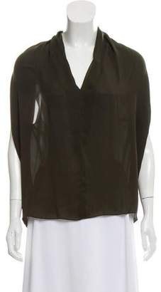 Lanvin Silk Sleeveless Blouse