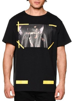 Off-White Graphic Short-Sleeve T-Shirt, Black $315 thestylecure.com