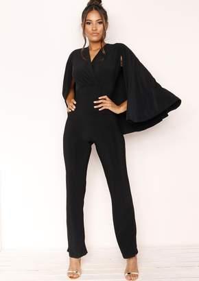 Black Cape Jumpsuit Shopstyle Uk